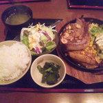 渋谷桜丘町 ろくよん - 上州もち豚トンテキ定食でございます