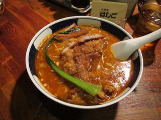 支那麺 はしご - 排骨坦々麺(パイコーだんだんめん) 中辛