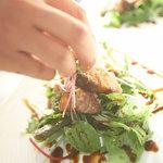 むらんごっつぉ - 料理写真:地場の新鮮な野菜を、和食の伝統技法で調理し、洋皿にて盛り付け