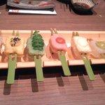 豆助 - 生麩と豆腐と蒟蒻の七味七彩田楽