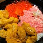 若狭家 - ウニいくらネギトロ丼 ¥1260