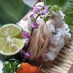 玉ゐ - 初夏のおすすめ「天然穴子の湯引き造り」