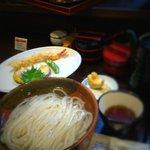 活麺富蔵 - 天ぷら付釜揚げ