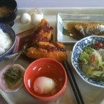 魚芳 旬鮮道場 - サバのワンコインランチ+アジフライ
