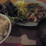 ビオオジヤンカフェ プラス - 生姜焼き定食