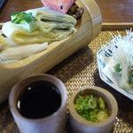 千寿亭 - 冷やし素麺天ぷら付き