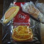 ローゲンマイヤー - 料理写真:明太フランス&クロワッサン ショコラ&芦屋クリームパン