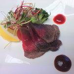 章月グランドホテル - 仲皿■コールドビーフ(デミグラスと梅肉ソース)
