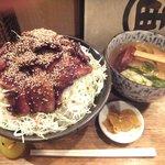 里のうどん - 「バラ丼特盛りセット」1,410円+「飯大盛120円」