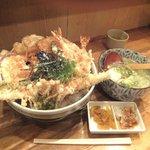 里のうどん - 「全盛り天丼セット」1,450円