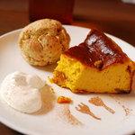 Cafe Snug - カボチャのチーズケーキ