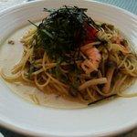 パステル - エビと高菜のたっぷり明太子スパゲティー