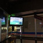 クロスバー - 窓からはJR吉祥寺駅(高架)と中央線を行き交う電車がよく見えます。(^^♪ サッカーファンであり鉄道ファンである私にはたまらないシチュエーションですw