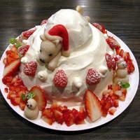 IR - オーダーメイドケーキ例2(白い犬が好きなお嬢様主催のクリスマスパーティ用ケーキ)