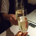 ラ メゾン ドゥ グラシアニ - シャンパンで乾杯♪