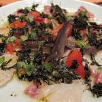 タケハーナ - 真鯛とふかしナスのカルパッチョ