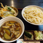 そば処 柿屋  - なす肉汁うどん・大盛(700円)_2011-07-31