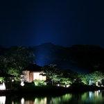 岡山後楽園 福田茶屋 - 福田茶屋前付近から見える幻想庭園の景色