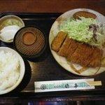 とんかつの竹亭 - 上ひれかつ定食
