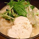 すぎのこ - 冷製白胡麻スープうどん1000円