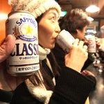 けやき - ビールはサッポロクラシック缶。【掲載許諾済み】