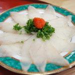 江戸前 松栄寿司 - お通しはゴマふぐのしゃぶしゃぶ!