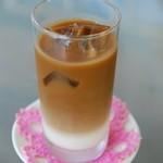 カフェ 花うさぎ - アイスカフェオレ
