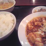 華龍飯店 - 麻婆豆腐定食@680円