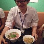 ハノイのホイさん - M山氏は牛肉のフォー・ボーのセットを注文(2011.08)