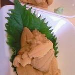 回転寿司函館まるかつ水産 - 3 塩水うに・ムラサキウニのオス