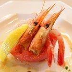 レストラン 西本 - 海老と枚方産のトマト
