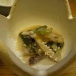 圓遊 - ランチの烏賊と葱のぬた和え