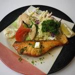 磯野家 - 生鮭のバター焼き定食