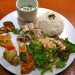 9157354 - 【豚冷しゃぶの香味野菜のせ…1,080円】2011/8