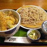SOBA-HOUSE 大自然 - 「天丼とおそばのセット」890円