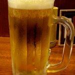 やきとりだいちゃん - 生ビール.JPG