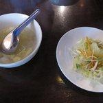 マレーシア ボレ - スープ&サラダ
