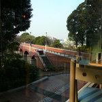 神奈川近代文学館 - 店内から見た風景