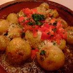 キッチン トマト屋 - アンデスポテトのガーリックソース