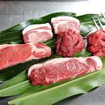 エル フランセ - 人気のサーロイン、黒琉豚アグー肉、柔らかいフィレ肉、和牛、その他のお肉です。