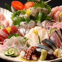 日本各地から仕入れた産直鮮魚は絶品!