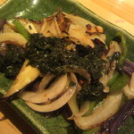 ペスカード - 野菜のガーリック紫蘇炒め