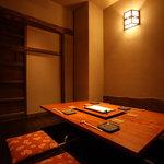 なか田 - 4名様の個室。このお部屋は隠し扉もあります♪