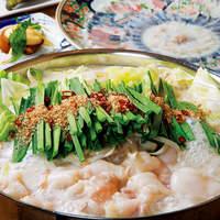 黒毛和牛もつ鍋当店人気No.1とんこつ味噌味(二人前からの注文)