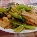 興口福 - 海老と青梗菜の炒め
