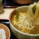 京都仕込みのかれーうどん 椿 - 料理写真:揚げカレーうどん