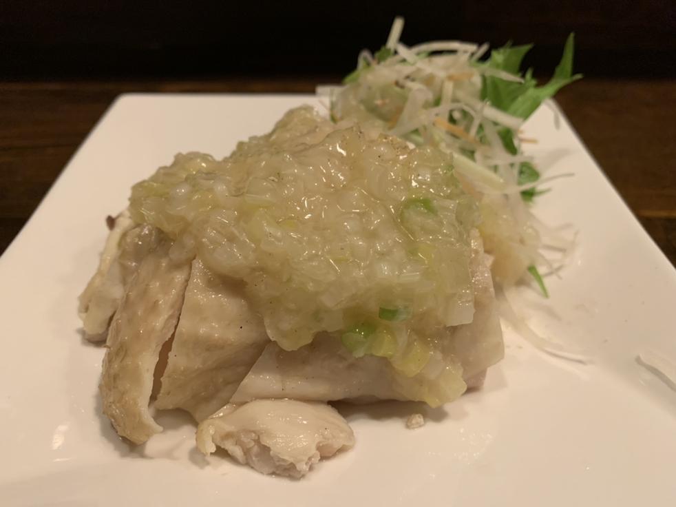 葱油白切鶏(茹で鶏の葱ソース)