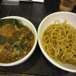 まるとく - 強麺つけ麺(魚粉)\800