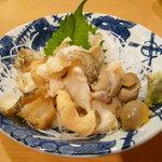 炉ばた番屋 - 料理写真:ツブ貝の刺身