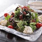銀座 竹の庵 - 湯葉と海藻のサラダ